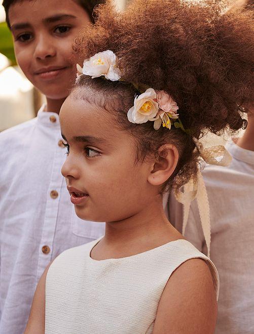 Corona di fiori con nastro                             ROSA