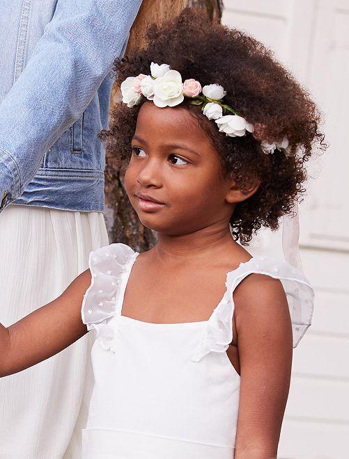 Corona di fiori per cerimonia                             rosa Infanzia bambina