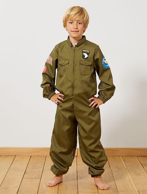 Costume aviatore                             kaki Bambini