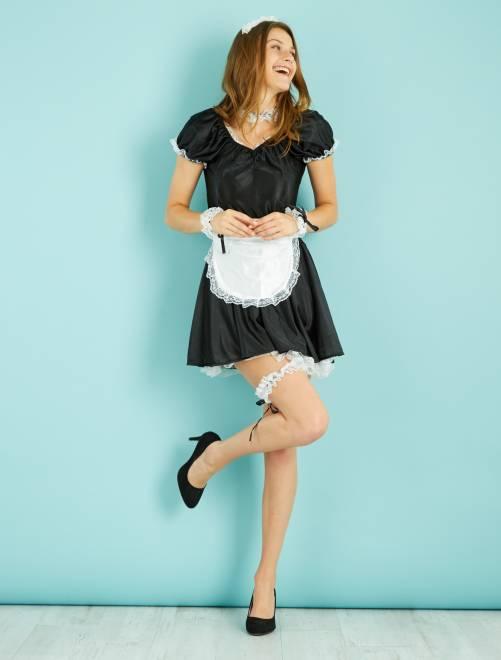 Costume cameriera                             nero/bianco