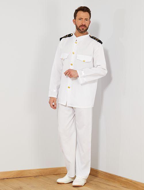 Costume capitano                             bianco Uomo