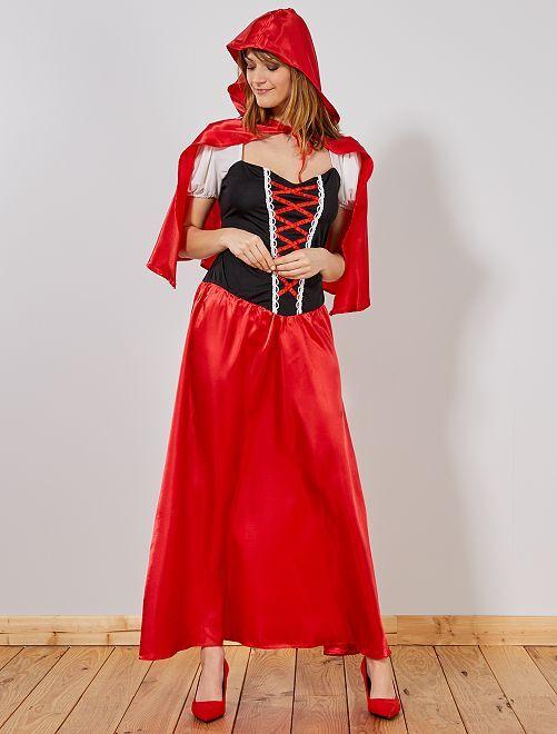 Costume Cappuccetto Rosso donna                             rosso