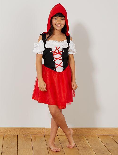 Costume Cappuccetto Rosso                             rosso bianco