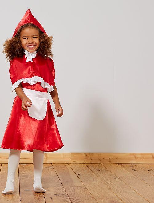Costume 'Cappuccetto Rosso'                             rosso/bianco