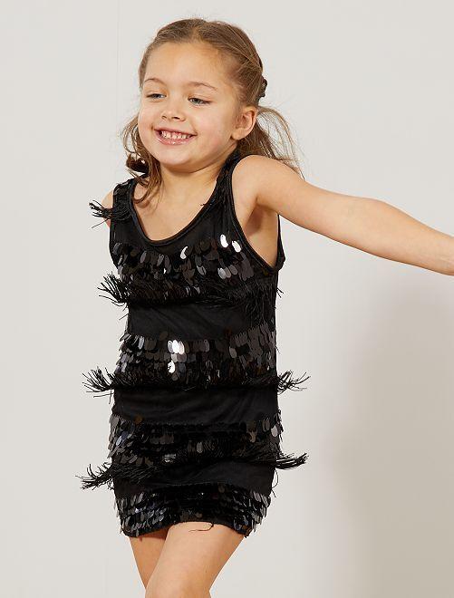 Costume Charleston bimba                                                     nero