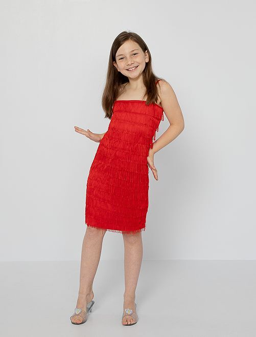 Costume Charleston                             rosso