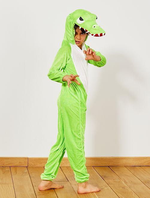 Costume coccodrillo                             verde Bambini