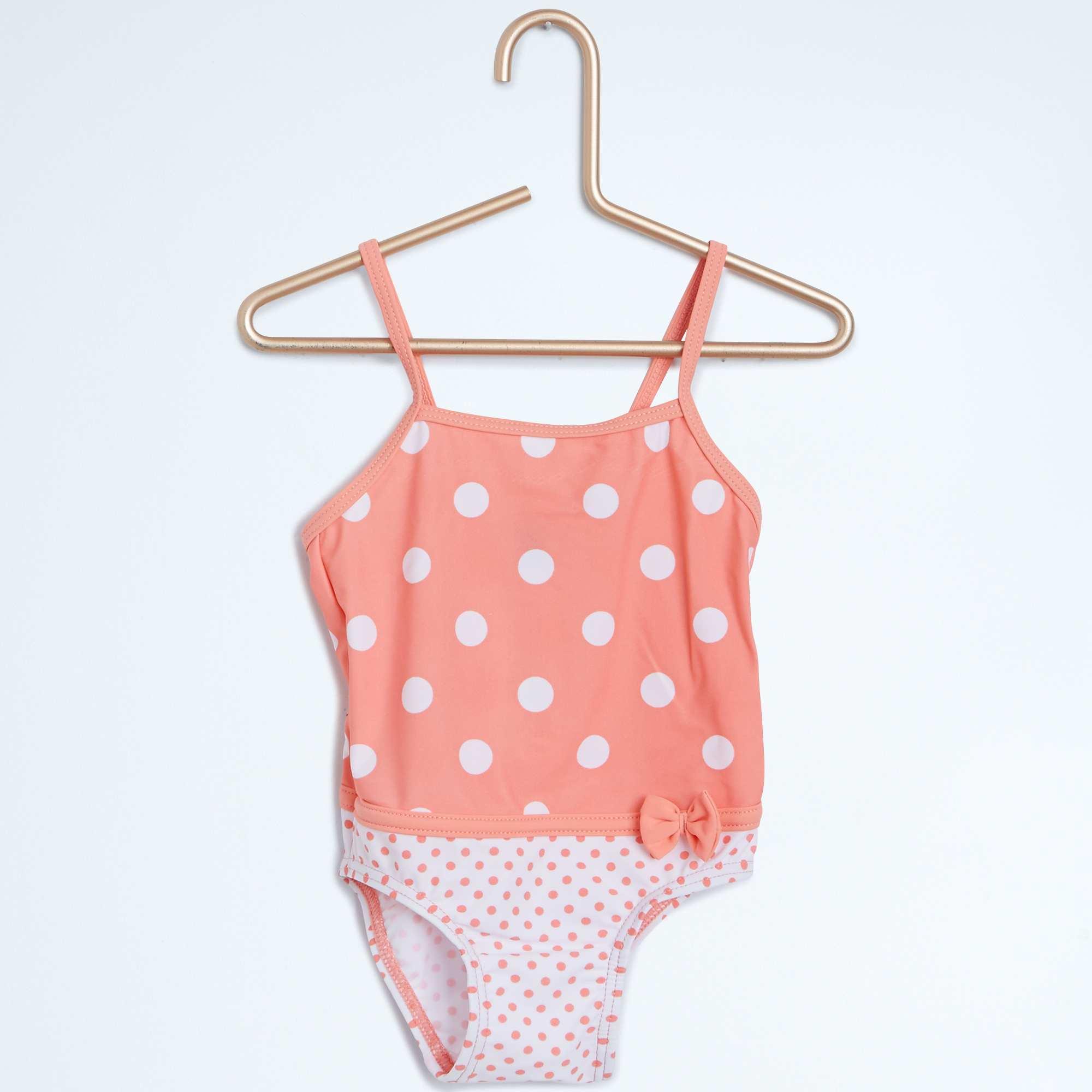 Costume da bagno intero spalline sottili neonata kiabi 8 00 - Costume da bagno fenicottero ...