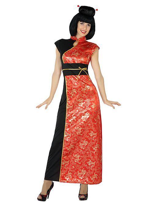 Costume da cinese                             rosso/nero