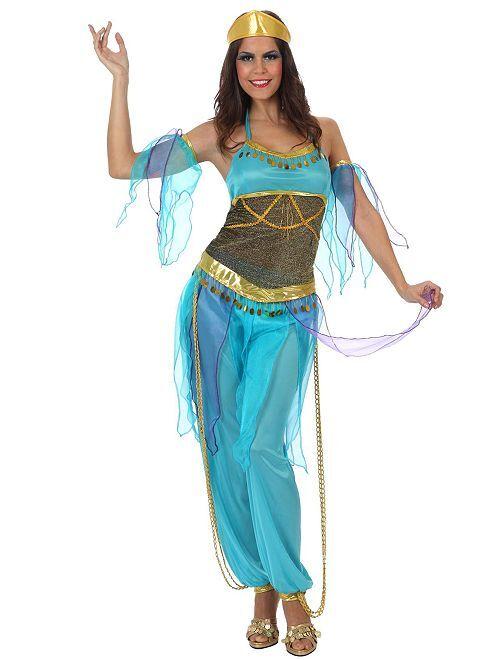Costume da danzatrice orientale                             BLU