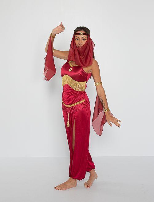 Costume da danzatrice orientale                             rosso