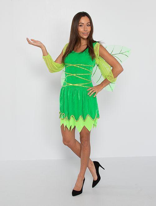 Costume da fata                             verde
