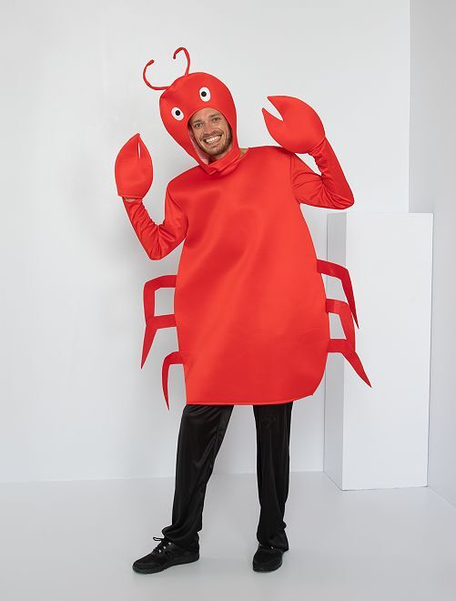 Costume da granchio                             rosso