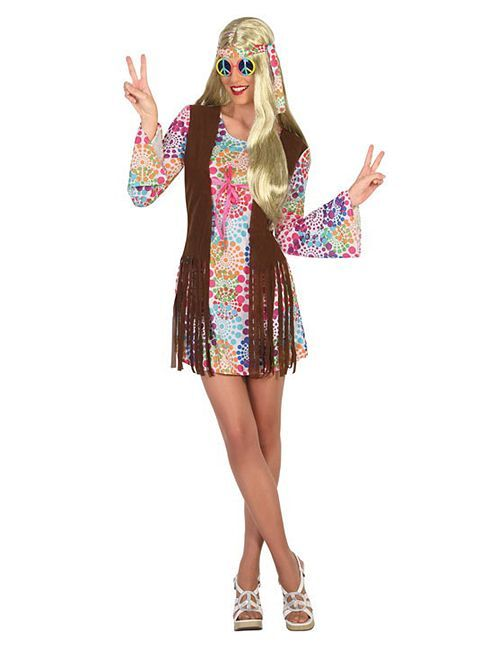 Costume da hippy                             multicolore