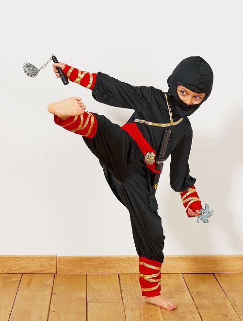 Costume da Ninja + accessori                             nero/rosso