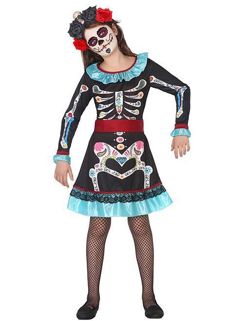 Costume da scheletro 'Dia de muertos'                             BLU