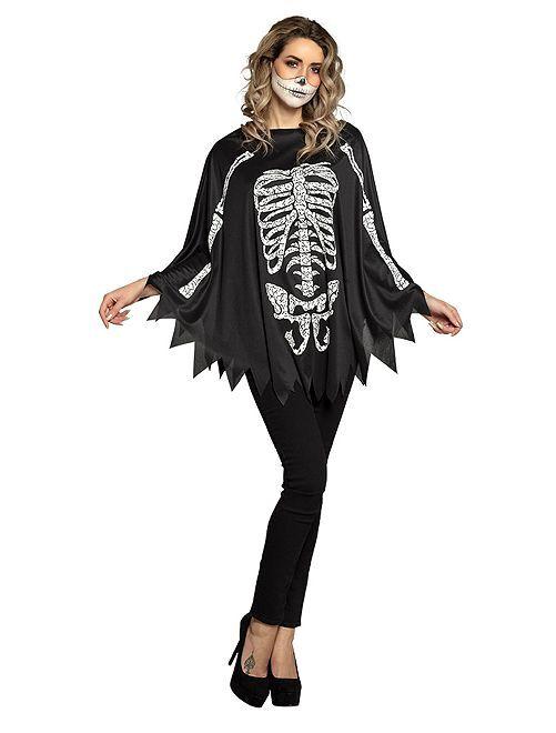 Costume da scheletro                             nero/bianco