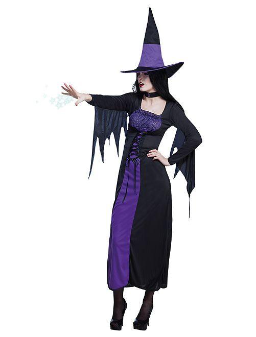 Costume da strega                             nero viola
