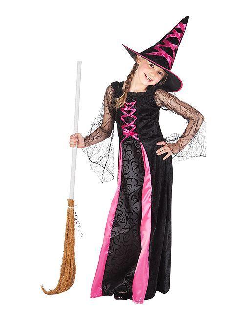 Costume da strega                             nero/rosa