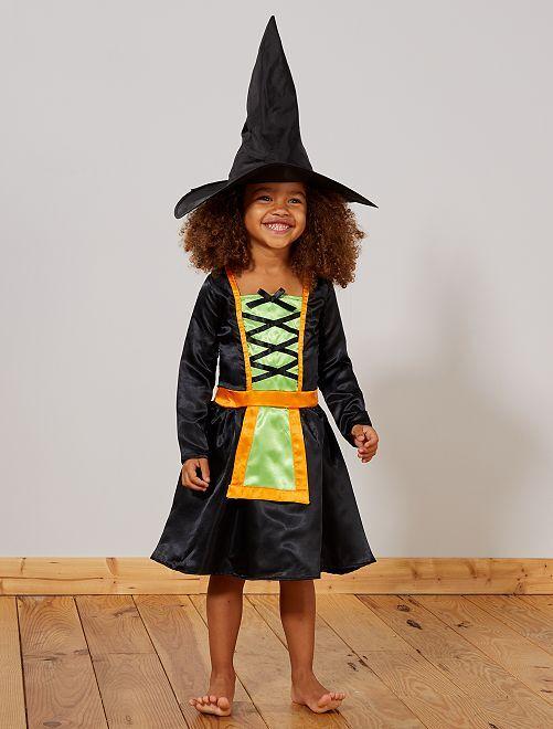 Costume da strega                             nero/verde