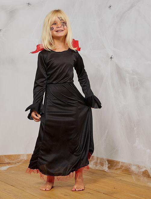 Costume da vampiro                             nero/rosso