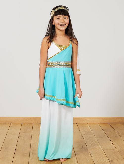 Costume Dea greca                             bianco/blu Bambini