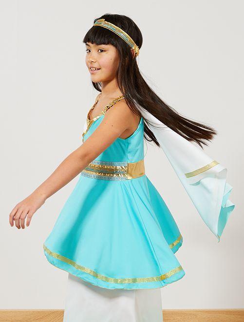 Costume dea greca bambini bianco blu kiabi 22 00 for Greca adesiva bambini