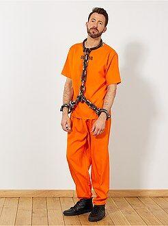 Travestimenti uomo arancione - Costume detenuto US - Kiabi