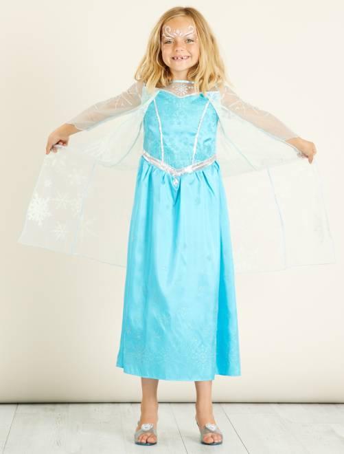 Costume 'Elsa' di 'Frozen - Il regno di ghiaccio'                             blu Bambini
