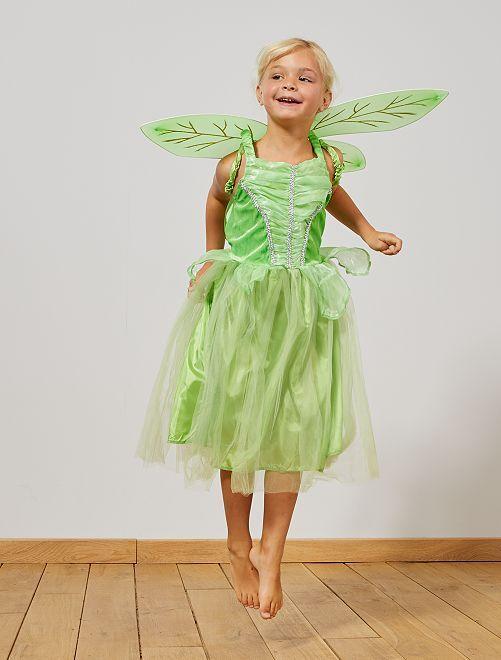 Costume fata                             verde Bambini