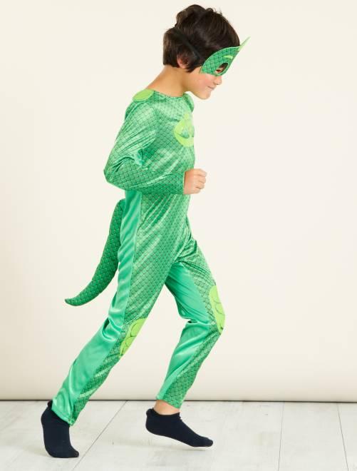 Costume 'Geco' dei 'PJ Masks - Super Pigiamini'                             verde Bambini