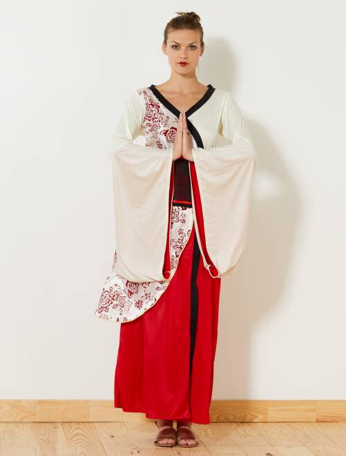Costume geisha                             rosso/bianco