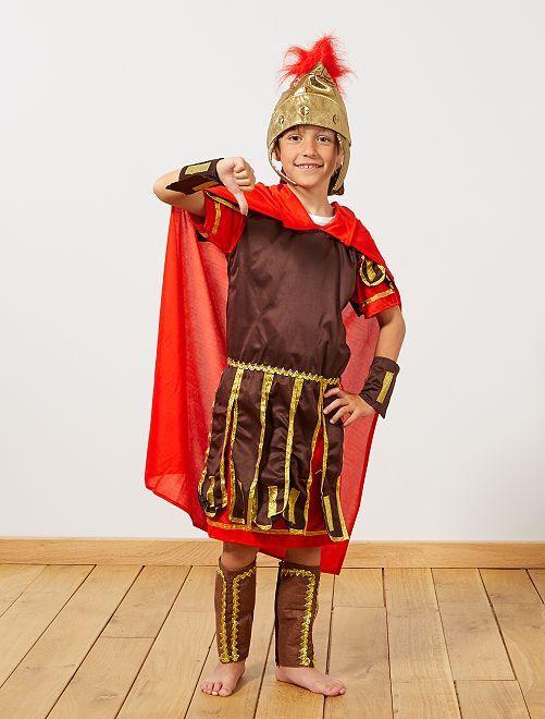 Costume gladiatore romano                             marrone/rosso