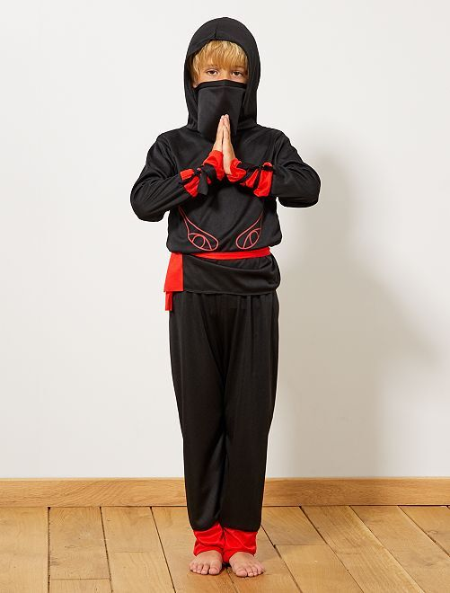 Costume guerriero ninja                             nero/rosso