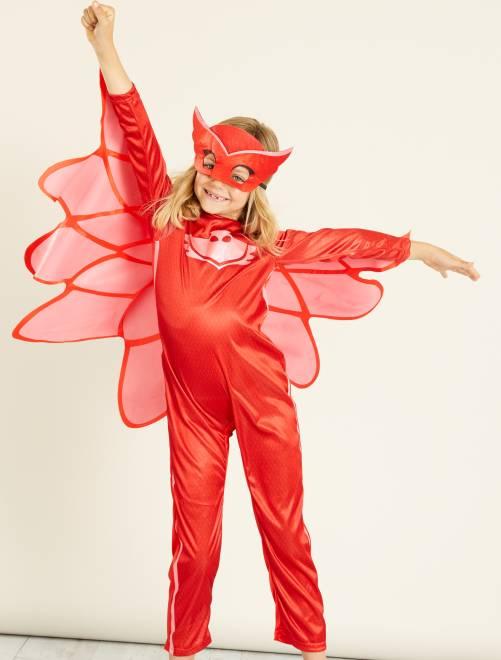 Costume 'Gufetta' dei 'PJ Masks - Super Pigiamini'                             rosso Bambini