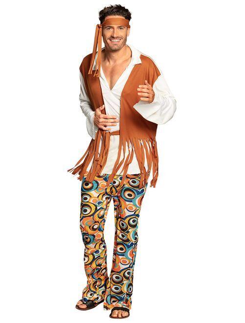 Costume hippy                             marrone Uomo