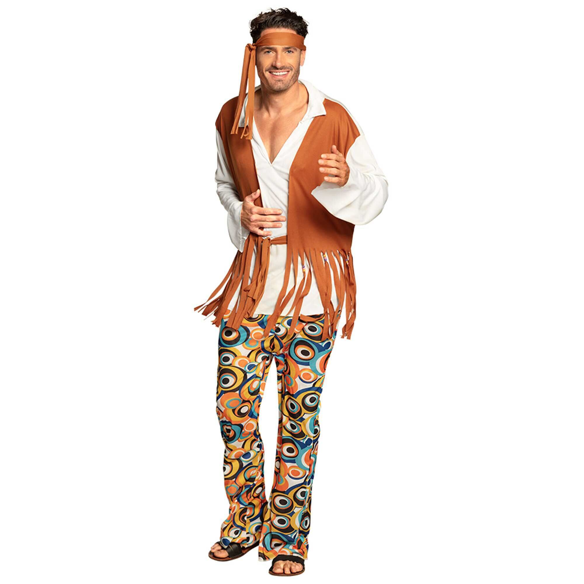 Matrimonio Hippie Uomo : Costume hippy uomo marrone kiabi