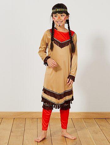 Costume indiana                             marrone Bambini