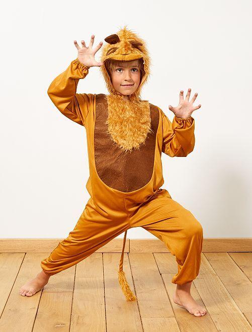 Costume leone                             marrone Bambini