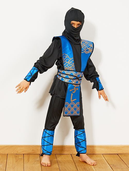Costume Ninja blu                             blu/nero Bambini