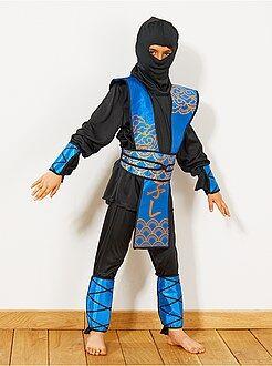 Bambini Costume Ninja blu