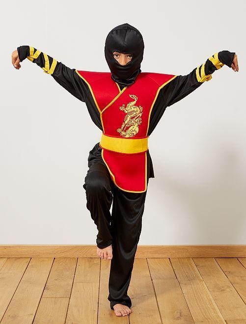 Costume ninja                             nero/rosso
