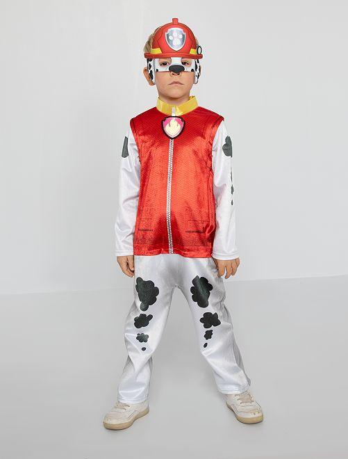 Costume 'Paw Patrol' in pelliccia ecologica                             rosso/bianco