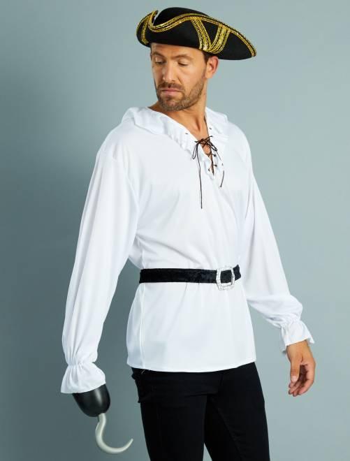 Costume pirata camicia + cintura                             bianco