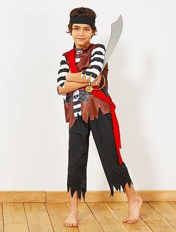 Costume pirata                             nero Bambini