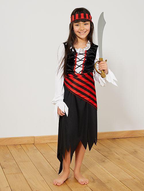 Costume pirata                             nero/rosso