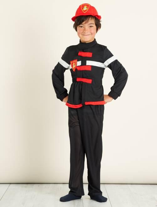 Costume pompiere                             nero/rosso
