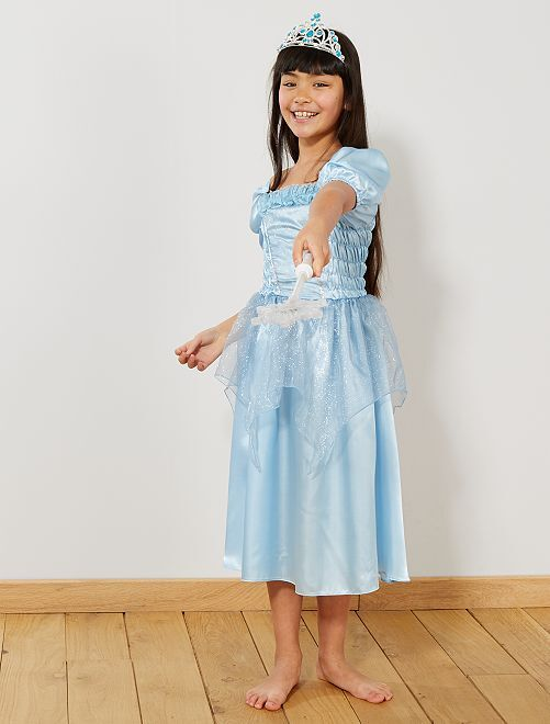 Costume principessa                                         blu Bambini