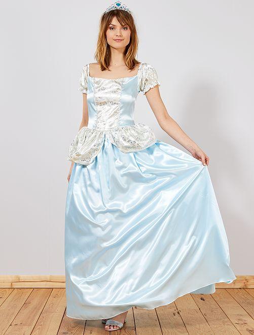 Costume principessa blu                             blu Donna