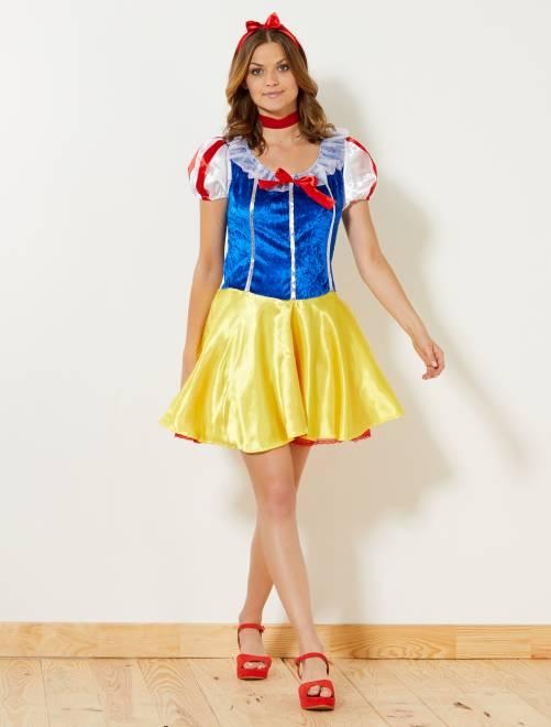 Costume principessa delle nevi                             giallo Donna